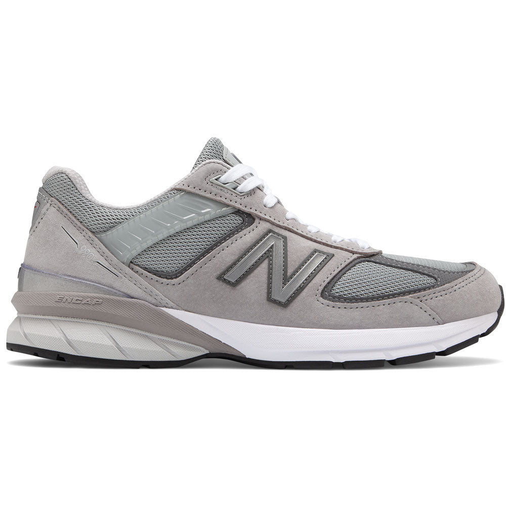New Balance Women's 990v5 in Grey with Castlerock at Mar-Lou Shoes