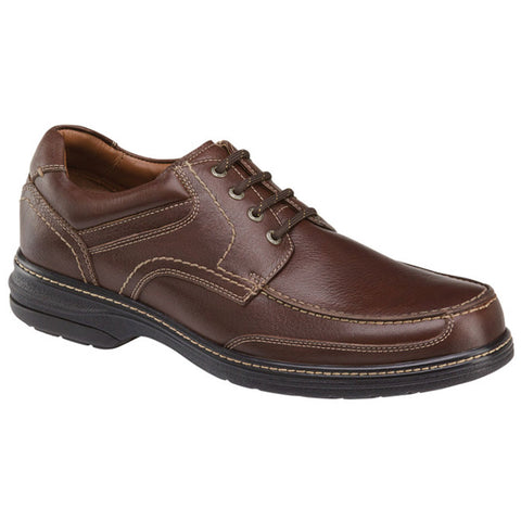 Johnston & Murphy XC4® Windham Waterproof Moc-Toe in Mahogany Leather at Mar-Lou Shoes