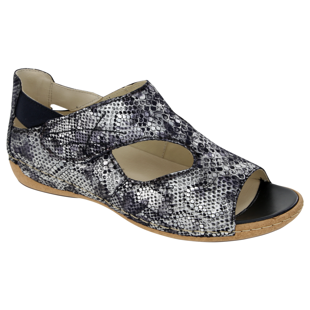 Bailey Sandal in Marine Nubuck by Waldlaufer found at Mar-Lou Shoes
