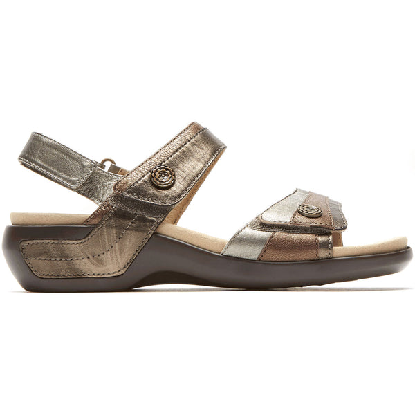 Aravon Katherine Sandal in Metallic Multi at Mar-Lou Shoes