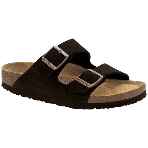 Birkenstock Arizona Soft Footbed Sandal in Mocha Suede at Mar-Lou Shoes