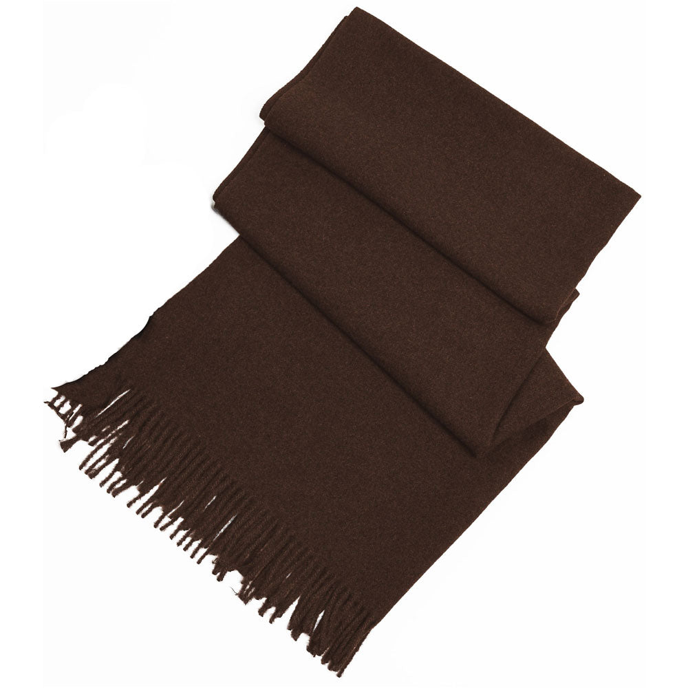 Look by M Soft Basic Cashmere Scarf in Mocha at Mar-Lou Shoes