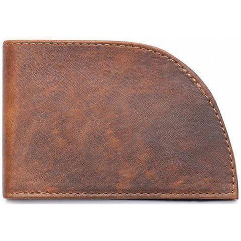 Rogue Front Pocket Wallet in Brown Moose Leather at Mar-Lou Shoes