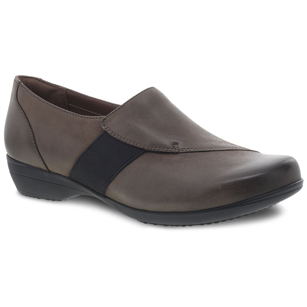 Dansko Fae in Mushroom Burnished Nubuck at Mar-Lou Shoes