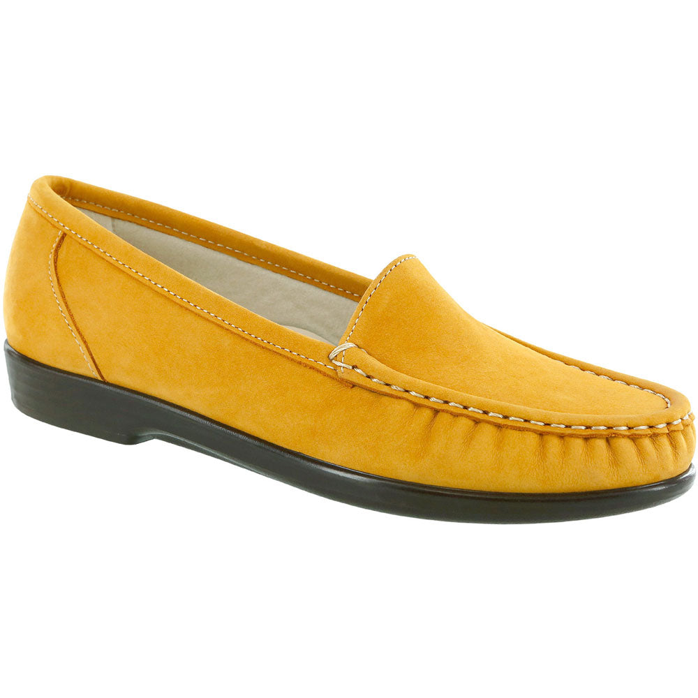 SAS Simplify Loafer in Mustard Nubuck at Mar-Lou Shoes