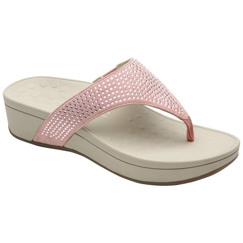 Pacific Naples Platform Sandal in Blush
