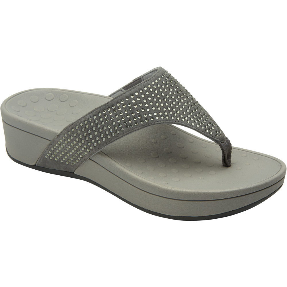 Pacific Naples Platform Sandal in Pewter