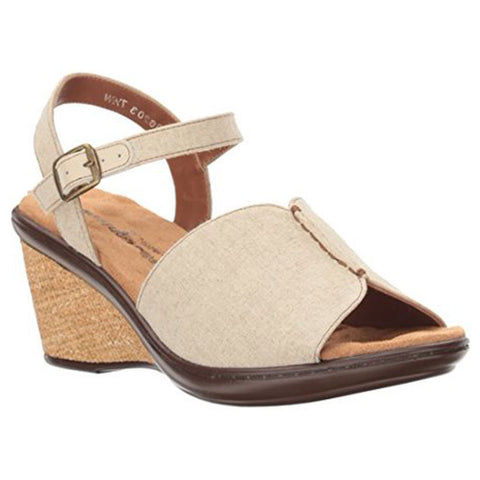 Lucca Sandal in Natural Fabric