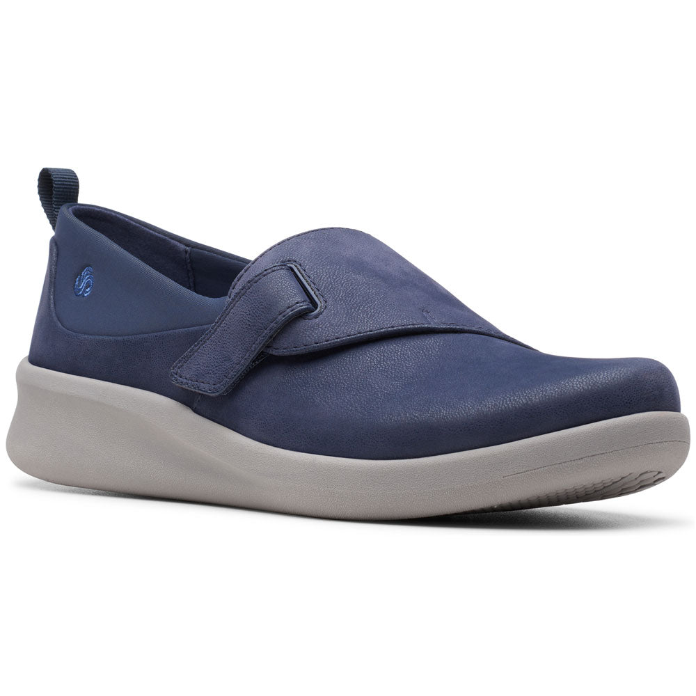 Clarks Sillian 2.0 Ease in Navy Synthetic at Mar-Lou Shoes