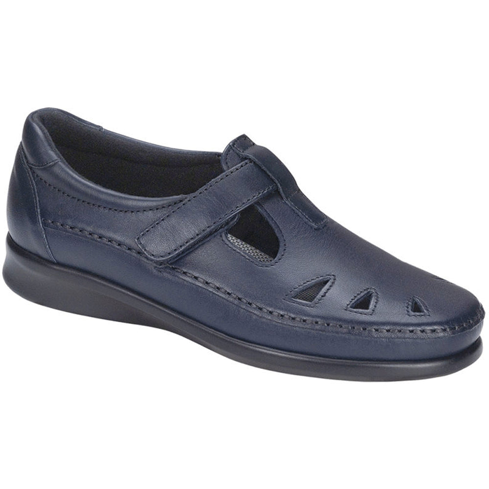 SAS Roamer in Navy Leather at Mar-Lou Shoes