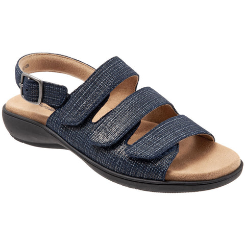 Vine Sandal in Navy Jeans Leather