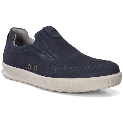 ECCO Byway Slip-On Sneaker in Navy Leather at Mar-Lou Shoes