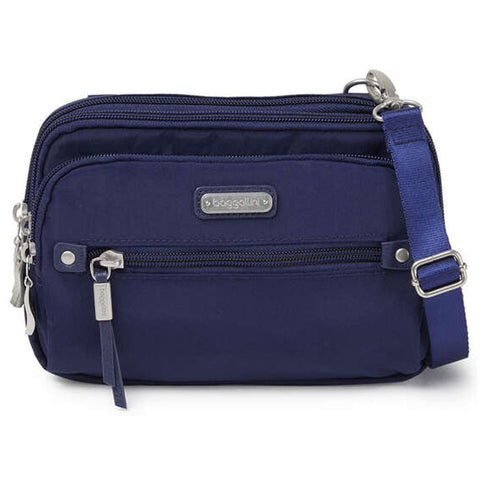 baggallini Time Zone RFID Crossbody Bag in Navy at Mar-Lou Shoes