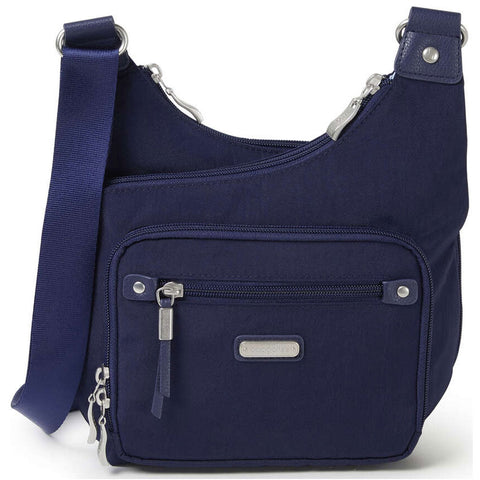 baggallini RFID Cross City Bagg in Navy at Mar-Lou Shoes