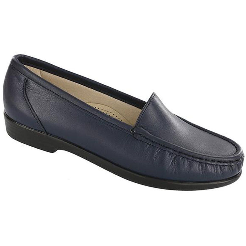 SAS Simplify Loafer in Navy Leather at Mar-Lou Shoes
