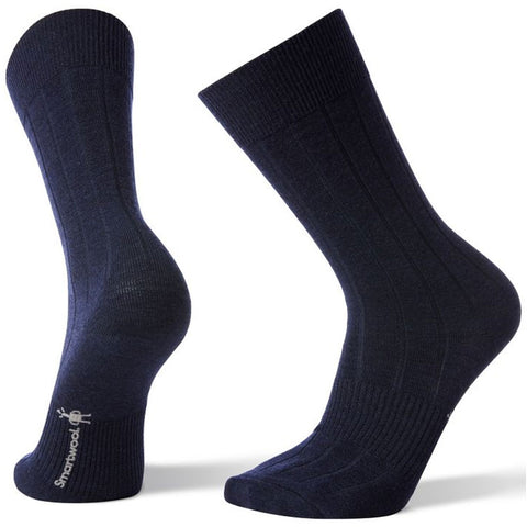 Smartwool Men's City Slicker Crew Socks in Deep Navy at Mar-Lou Shoes