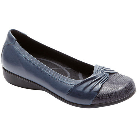 Aravon Andrea Slip On in Navy at Mar-Lou Shoes