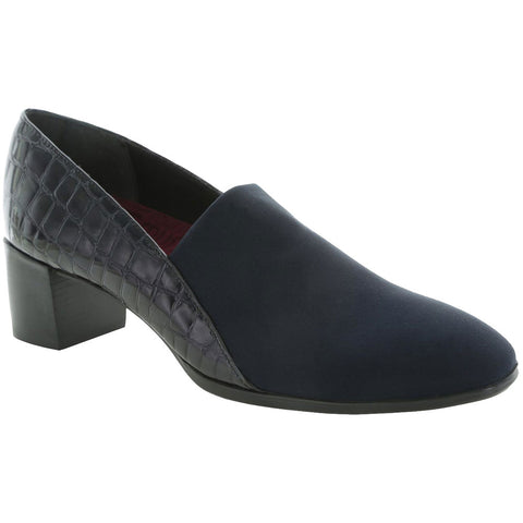 Billee Kid Pumps in Navy Patent Leather