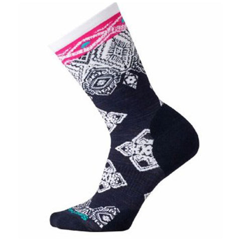 Diamond Royale Crew Socks in Deep Navy Heather