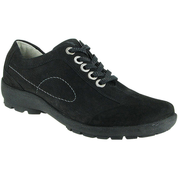 Waldlaufer Dana in Water-Resistant Black Nubuck at Mar-Lou Shoes