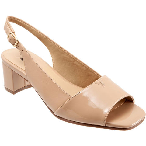 Trotters Monique Slingback Heel in Nude Patent at Mar-Lou Shoes