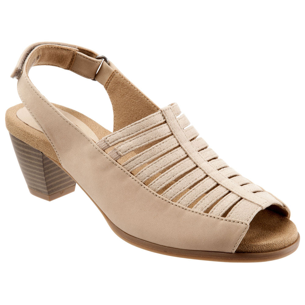Trotters Minnie Sandal in Nude Nubuck at Mar-Lou Shoes