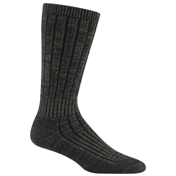 Women's Merino Silk Hiker Socks in Olive Green Heather