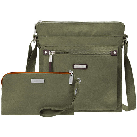 baggallini Go Bagg with RFID Phone Wristlet in Olive at Mar-Lou Shoes