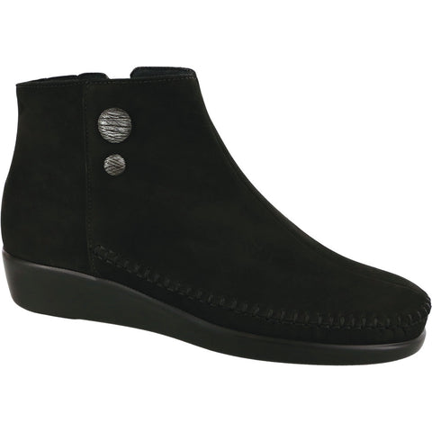 SAS Jade Bootie in Onyx Nubuck at Mar-Lou Shoes