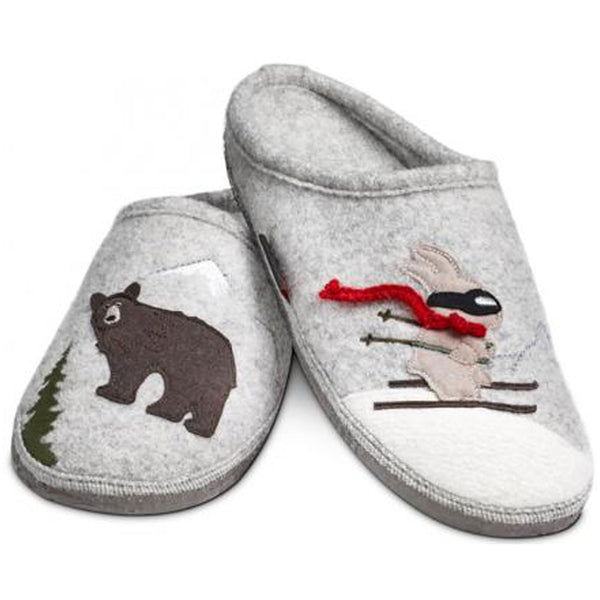 Giesswein Downhill Slipper in Pebble at Mar-Lou Shoes