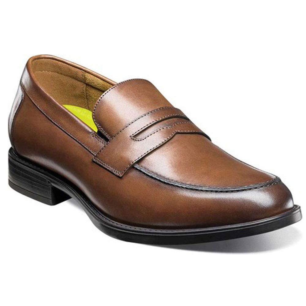Midtown Penny Loafers in Cognac Leather