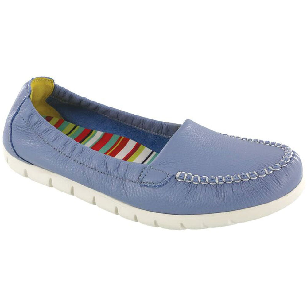 SAS Sunny Loafer in Periwinkle Leather at Mar-Lou Shoes