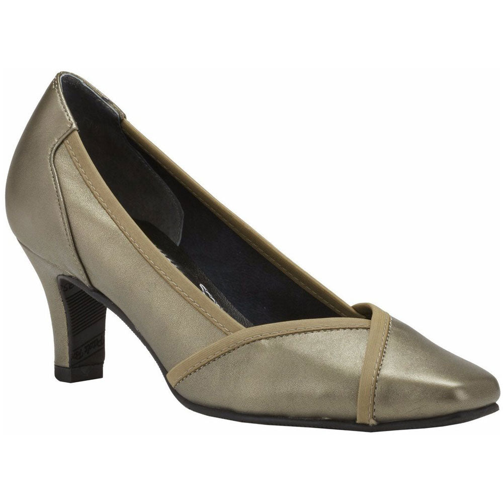 Rayna Pump in Pewter Leather
