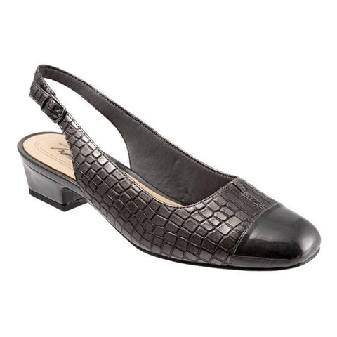 Dea in Pewter Crocodile Leather