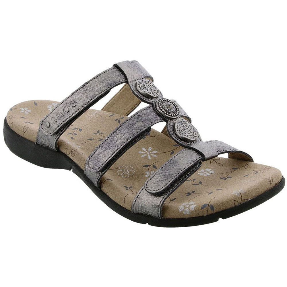 Taos Prize 3 Sandal in Pewter Leather at Mar-Lou Shoes