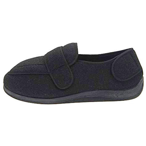 Physician Extra Wide Slipper for Men in Black