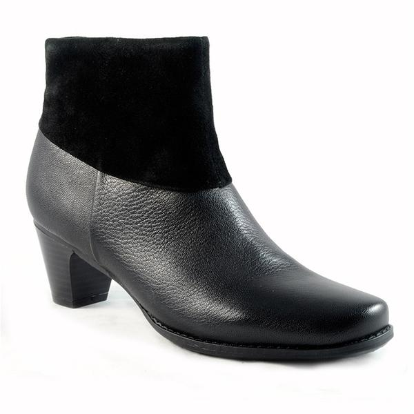 Darla Ankle Boot in Black Leather