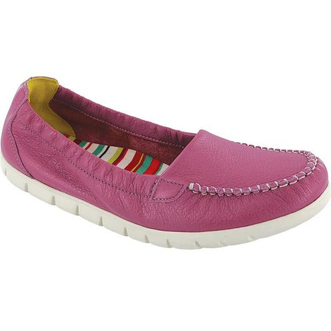 SAS Sunny Loafer in Pink Leather at Mar-Lou Shoes