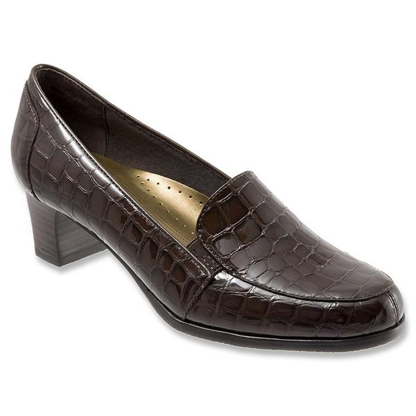 Gloria in Dark Brown Croc