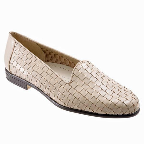 Liz in Bone Woven Leather