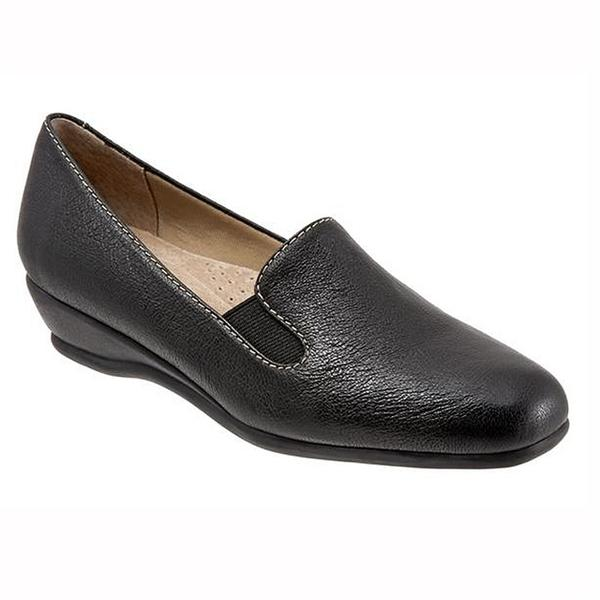Lamar Slip On Casual in Black Leather