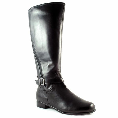 Tedra Boot in Black Leather