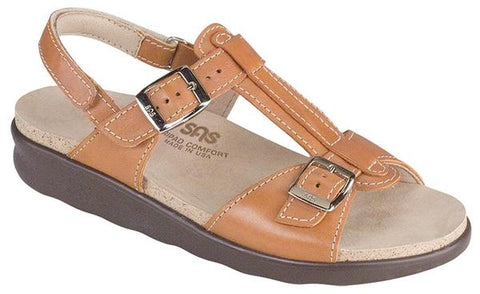 Captiva Sandal in Caramel Leather
