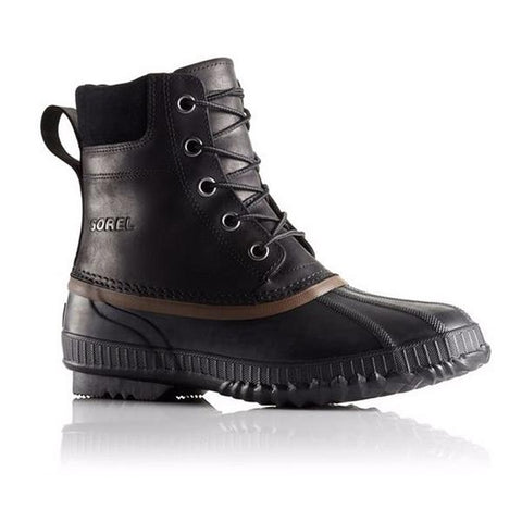 Sorel Cheyanne Lace-Up Waterproof Boot in Black Leather at Mar-Lou Shoes