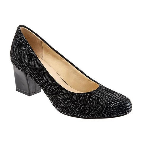 Candela Pump in Black Lizard Leather