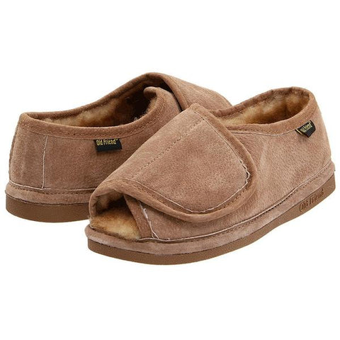 Step-In Slipper in Chestnut Suede