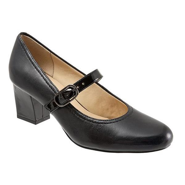 Candice Mary Jane Pump in Black Leather