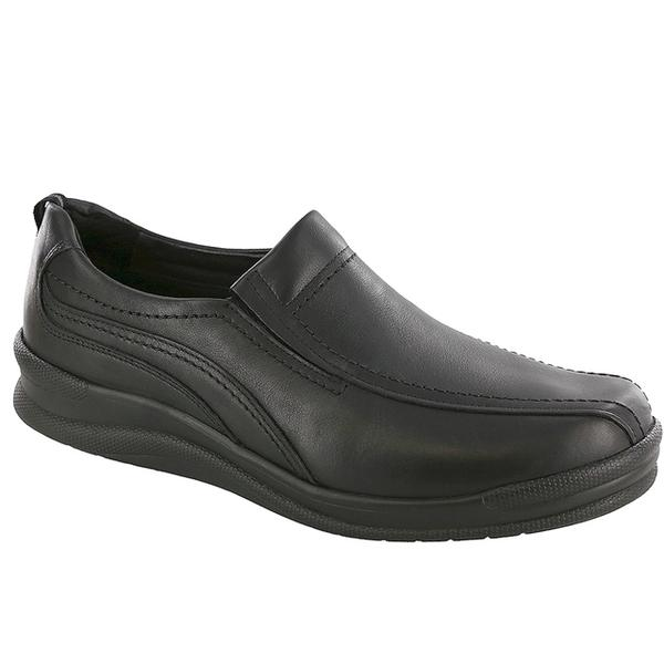 SAS Cruise On Loafer in Black Leather at Mar-Lou Shoes