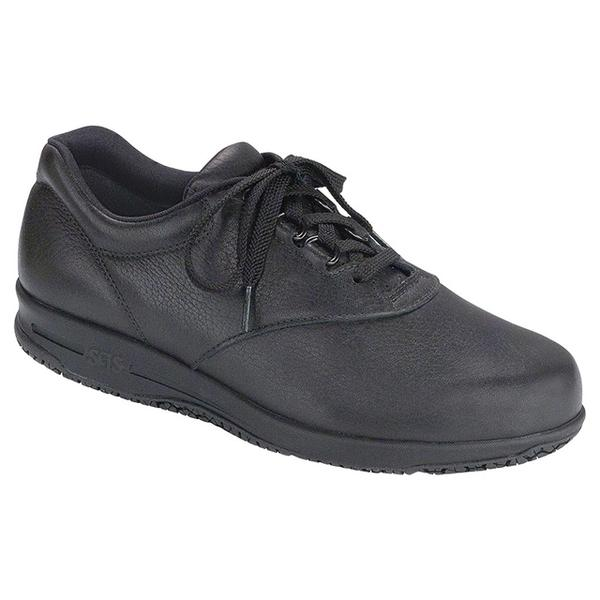 SAS Liberty Slip-Resistant Shoe in Water-Resistant Black Leather at Mar-Lou Shoes