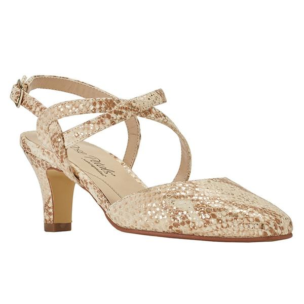 Rosie Pump in Cream Multi Snake Print